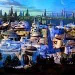 Diorama del parco tematico di Star Wars