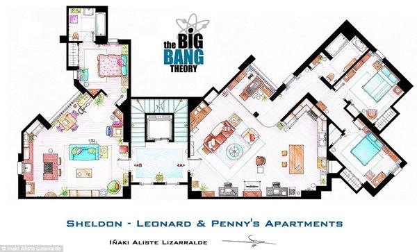 Le piantine di alcune celebri case della tv geekjournal for Piantine di case