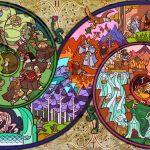 """Delle """"vetrate"""" con la storia di Lo Hobbit e LOTR"""