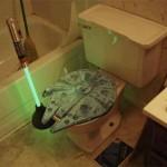 Il bagno da vero fan di Star Wars