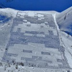 Space Invaders nella neve