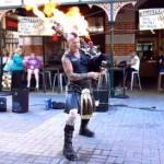 Thunderstruck  suonata con una cornamusa incendiaria