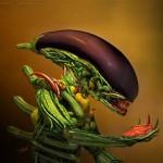 Alien in stile Arcimboldo