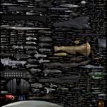 Una mega immagine con tutte le astronavi create dal genere fantascientifico