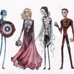 The Avengers con lo stile di Tim Burton
