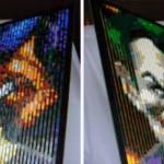 Da Batman a Joker in un'immagine lenticolare fatta col LEGO