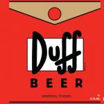 Le etichette della birra Duff per il parco dei Simpson