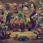Le caricature dei personaggi di Breaking Bad