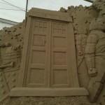 Delle spettacolari sculture di sabbia a tema Doctor Who