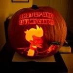 La zucca di Halloween dedicata a Fry
