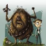 """Han Solo e Chewbecca """"Tim Burton Style"""""""