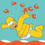 "Homer Simpson in versione ""Fail Whale"" di Twitter"