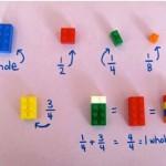 Imparare le frazioni con i mattoncini LEGO