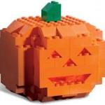 La zucca di Halloween della LEGO