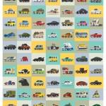 Un poster raccoglie 77 celebri autovetture