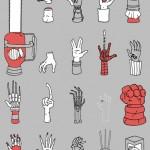 Una raccolta di mani famose