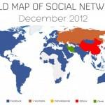 La mappa dei social network più popolari