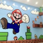 Uno spettacolare murales in 3D di Super Mario