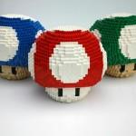 I funghi Power-Up di Mario rifatti con il LEGO
