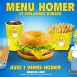 Il menù dedicato a Homer Simpson