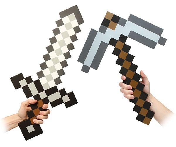 Il piccone e la spada di minecraft geekjournal for Minecraft da colorare
