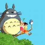 I personaggi di Miyazaki protagonisti di alcune pixel art