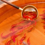 I pesci rossi tridimensionali dipinti da Riusuke Fukahori
