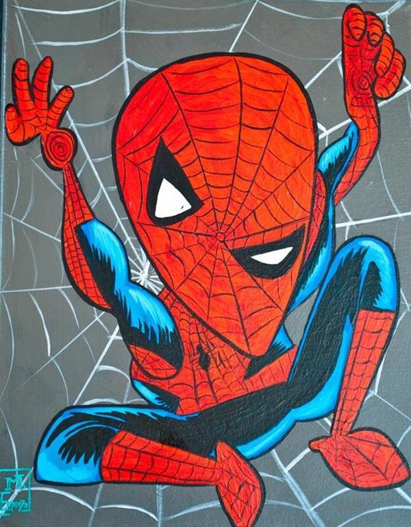 Ha dipinto un po' di tutto ma non si è mai occupato dei supereroi