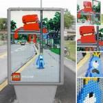 Pubblicità LEGO originali integrate nel mondo reale