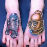 Doppio tatuaggio di C1-P8 e D-3BO