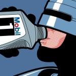 Robocop si fa un drink