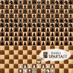 La battaglia di 300 rifatta con gli scacchi