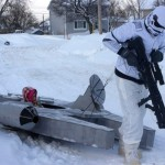 Come gioca con la neve un fan di Star Wars