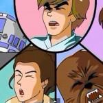 Star Wars rifatto in stile anime anni '80