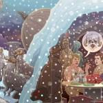 Delle cartoline natalizie a tema Star Wars