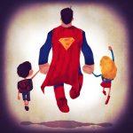 I Super-Genitori portano i figli a scuola