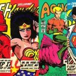 Gli eroi dei fumetti in stile rockstar anni '80