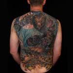 Un Worgen tatuato sulla schiena