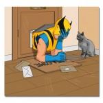 Wolverine e i problemi con gli ingressi per gatti